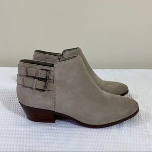 Sam Edelman Gray Taupe Suede Leather Boots NWOB